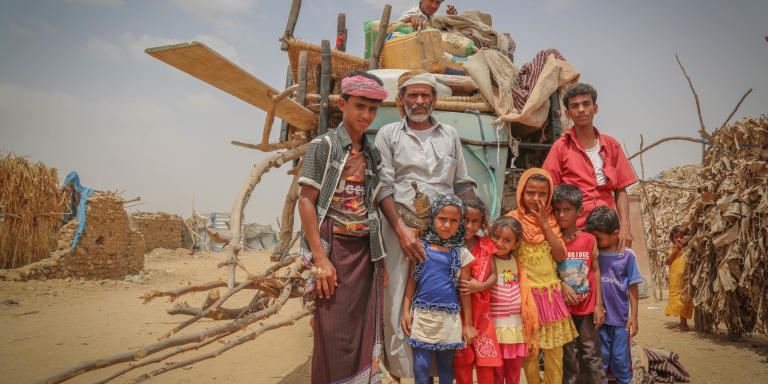 March 2019, Ali Mohammed, 49 years old, and his family have arrived from Kushar, Hajjah northern Yemen after the conflict escalated in the area, the conflict also forced thousands of families to flee and many others are trapped, living off food stocked in their homes to survive.