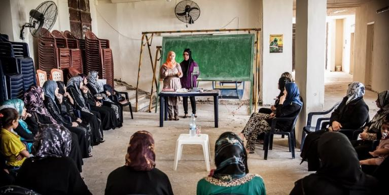"""They told us that we would do better to work for our people's rights first. We say that our battle for the Palestinian refugees' rights starts with our battle for the Palestinian women's rights!"" Ahlam Abou Sahyoun Photo: NRC/Christian Jepsen"