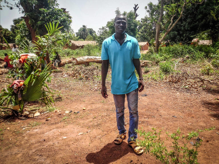 "Frank Pabingui fled with his wife and two children from Bambari this spring and has sought safety in Sibut.   ""We thought that the 2014 ceasefire would bring us peace and social cohesion, but now we are seeing the opposite. I left Bambari to find a safer place, after members of the ex-Seleka burnt our house and killed my brother,"" he said.  Photo: NRC"