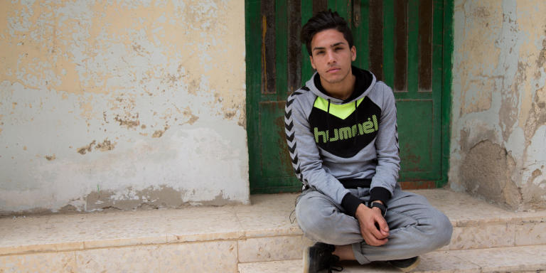 I am Mahmoud Mohamed and I am 17 years old.  I have been in Jordan for around six years, since 2012. I used to live in Eastern Ghouta, in Hateet Al Jerash. In terms of education, I missed it because of the war and the situation here. As a refugee I can't study because of financial issues. I have to work instead of studying. Studying is essential, and I am deprived of it.  Photo: Leen Qashu'/NRC