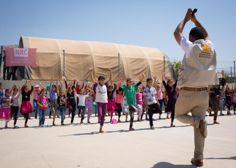 Thousands of Yazidi children need psychological support. NRC education programmes help them in camps around Dohuk to deal with their trauma and psychological distress through educational and recreational activities.  Photo: Tom Peyre-Costa/NRC