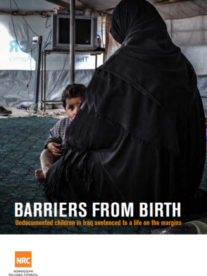 Front page of Barriers from Birth report.