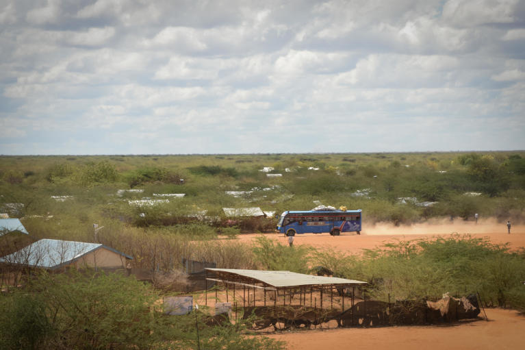 A bus ferrying passengers from Ifo camp in Dadaab to Garissa town