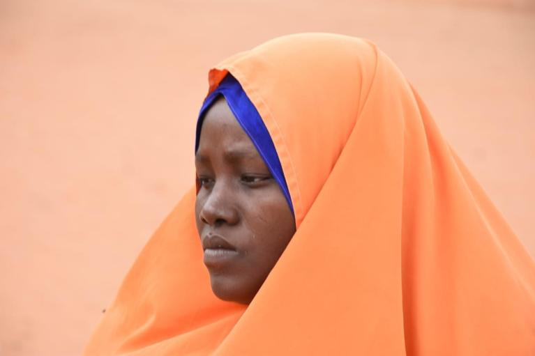 Fadumo  Abdula contemplates what life was like back in Somalia, where she longed for her children to be able to sleep in peace.