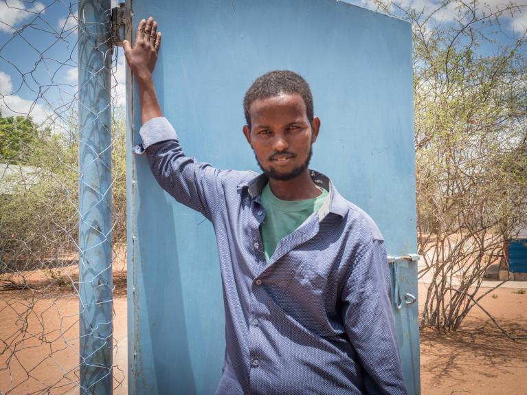 "Ali Dimbil Ahmed (34) wants to return to Somalia after living most of his life in Hagadera camp in Dadaab Refugee Complex, Kenya. ""I have more of a chance finding work in Somalia than I do here, I do odd jobs here in Dadaab but I never have a stable job. I will find a better job in Somalia,"" he said as he discusses the potential closure of Dadaab Refugee Complex and his reasons for leaving Dadaab now."