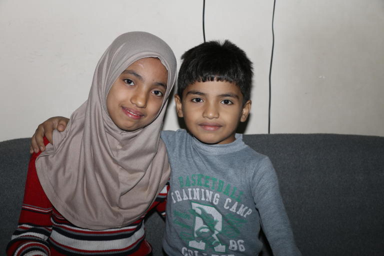 "When I grow up, I wish that I could become an orthopedic so that I can help other people in need who are in similar situation as my father,"" says 11-year old Fatin.  Photo:  Zaynab Mayladan/NRC"